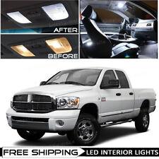 For 2006-2008 Dodge RAM 1500 2500 3500 White LED Interior Lights Package Kit O5