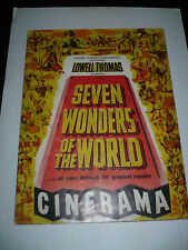 SEVEN WONDERS OF THE WORLD, 9x12 souvenir book w/20pg [Lowell Thomas] - CINERAMA