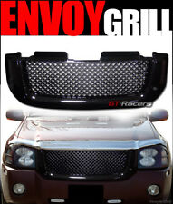 For 2002-2008 Gmc Envoy Black Luxury Mesh Front Hood Bumper Grill Grille Guard (Fits: Gmc Envoy)