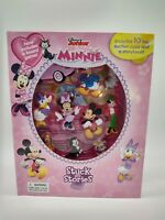 Minnie Disney Jr Book Board Game 10 toy suction cups Stuck on Stories Storybook