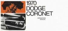 DODGE Coronet 1970 Owner's Manual 70 Coronet
