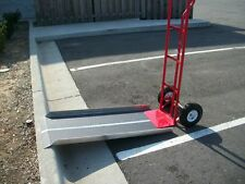 "New Aluminum Hand Truck Dollie Dolly Ramp Portable 20"" X 48"" Strong"