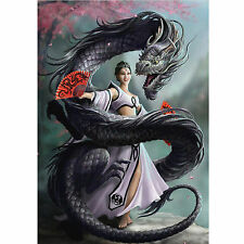 Dragon Dancer Anne Stokes Wall Plaque Gothic Oriental Fantasy Art Canvas Picture