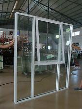 WHITE Double glazed Aluminium BIG Awning window 2100 HIGH x 2400 WIDE