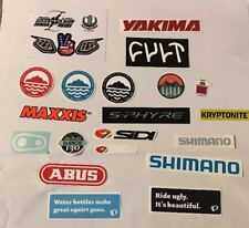 Interbike 2017 Sticker Decal Lot. Bianchi Shimano Maxxis Yakima Sidi Pure Cycles