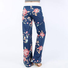 Plus Size Womens High Waist Palazzo Trousers Wide Leg Loose Sport Harem Pants