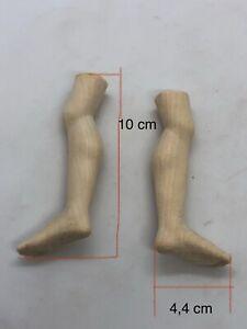 Coppia Piedi Gambe Angelo Statue wood Feet restauro pastori statua 4,4 Cm Pianta