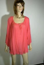 AUTOGRAPH Size 20 Pink Coral 3/4 Sleeve Lace Insert Back Top NEW w/tags $69.99