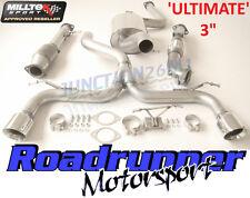 "Milltek Focus ST225 Exhaust 3"" Ultimate Turbo Back & RACE Sports Cat Polish Tips"