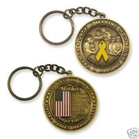 "MARINE CORPS MOM MOTHER  FLAG 1.75"" CHALLENGE COIN KEY CHAIN"