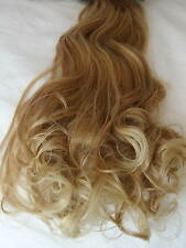 """24"""" Clip in Hair Extensions Curly Strawberry Tipped Blonde #27T613 One Piece"""