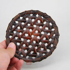 1pc Chinese Handmade Tea Service Bamboo Weaving Teapot Tea Cup Pad 11cm
