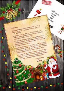Personalised Letter from Santa Father Christmas Choice of 5 wordings!!