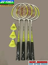 4 PLAYER YONEX BADMINTON SET - 4 X RACKETS AND 3 X SHUTTLES