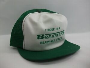 I Rode in a Boehmers Ready MIx Truck Youth Hat VTG K Band Snapback Trucker Cap