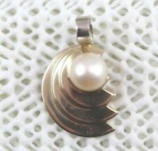 Pearl Pendant - 14k Yellow Gold - 3.4 Grams Total Weight