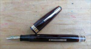 Waterman's Hundred Year Burgundy Red Gold Trim Fountain Pen 14k Flex FINE Nib