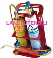 LANDI UTENSILI  KIT CANNELLO  SALDATURA TURBO SET  + 2 BOMBOLE OSSIGENO