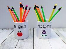 Personalised Teacher Gift Pen Pencil Pot Desk Tidy Office Children