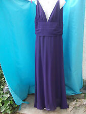 EVER-PRETTY PURPLE FULLY LINED MAXI EVENING DRESS-SZ 18 VGC