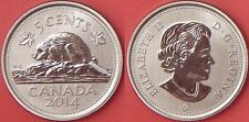 Specimen 2014 Canada 5 Cents From Mint's Set