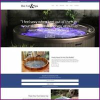 HOT TUBS Website Business For Sale - WORK FROM HOME + Domain + Hosting + Help