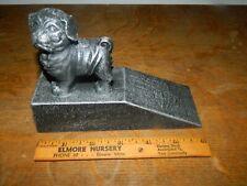Cute Pug Dog Statue Figurine Dog Wedge Style Door Stop Cast Iron