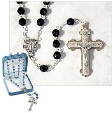 Beautiful Black Crystal Rosary for Men