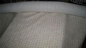 5 Meter Upholstery Fabric Aqua Green Tan Cotton Mix Campervan Boat Caravan Homes