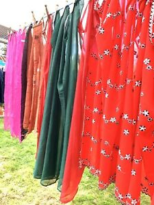 Scarves Indian Wrap Bundle Of 4 Red Pink Ethnic Floaty Scarf Dressing Up Craft