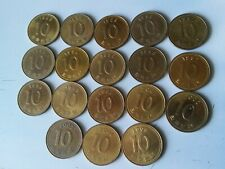 South Korea lot of 18 coins 10 won 1985-2005