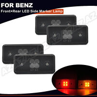 4X LED Side Marker Lamps Front+Rear Smoked For Mercedes W463 G500 G55 G550 G63