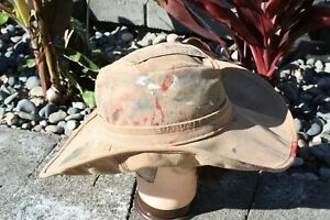 Carhartt Cowboy Hat size L or 7 3/8 handmade tan formable duck fedora