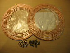 COPPER BRAKE PIPE SEAMLESS 2 X 25FT OF 3/16 OR 4.76MM + 10 FEMALE+10 MALE NUTS
