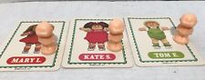 Vintage 1984 Cabbage Patch Hide-N-Seek Game Replacement Figures And Cards