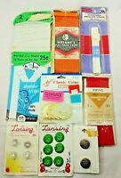 Vintage Sewing Notions Lansing Buttons Wright's Bias Tape Piping Panty Elastic