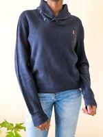 Polo Ralph Lauren Men's Jumper size M logo Navy Blue Cotton designer medium