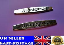 2pcs Avantgarde Mercedes Emblem Badge Metal Chrome Rear Trunk  Logo Sticker