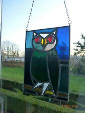 Bleiverglasung -  Fensterbild - Eule  - Glasfensterbild