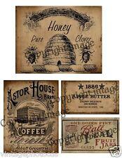 Primitive Kitchen Pantry Labels  - Reproduction        #507