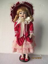 "Very Rare 1993 Design Debut  19"" Porcelain Doll Gretchen by Vicky Wang LE COA"