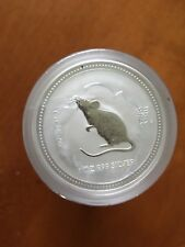 2007/2008 AUSTRALIAN LUNAR YEAR OF THE RAT 1 Oz  SILVER COIN Series 1