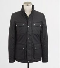 mens j.crew waxed cotton HAYES thinsulate coat jacket XS extra small $198 WM03A