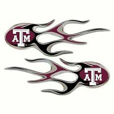 Texas A&M Aggies NCAA Micro Flames (2-Pack) Decal / Sticker *Free Shipping