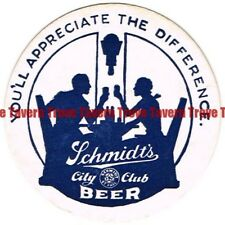1940s MINNESOTA St Paul SCHMIDT'S CITY CLUB Silhouettes 4 inch Coaster