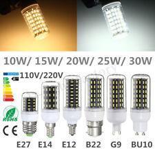 E27 B22 GU10 E14 G9 4014 SMD LED LAMP CORN BULB LIGHT 220-240V WARM COOL WHITE