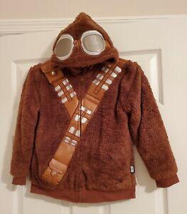 Disney Star Wars Exclusive Chewbacca Wookie Faux Fur Hoodie Boys Size 7/8
