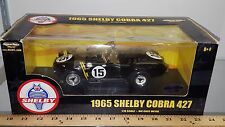 1/18 ERTL AMERICAN MUSCLE 1965 SHELBY COBRA 427 #15 BLACK with YELLOW STRIPES rd