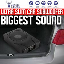 "Car Subwoofer and Amp Amplifier Slim Enclosure 8"" Sub Woofer 500W Audio Speaker"