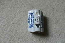 "Chinese Vintage/Antique Blue & white Porcelain Bitong/Brushpot -4""H"